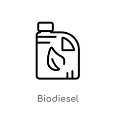 outline biodiesel icon isolated black simple line vector image