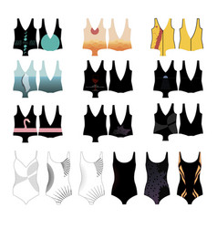Patterns for womens swimwear vector