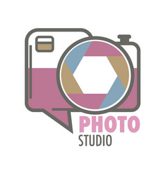 photo studio retro photo camera isolated icon vector image