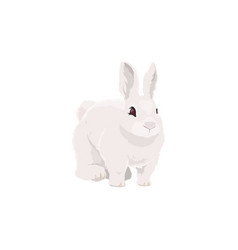 rabbit farm animal icon bunny cattle farming vector image