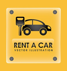 rent car design vector image
