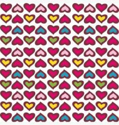 retro hearts vector image