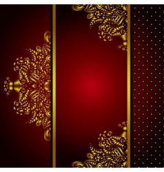 Royal Golden Frame Menu card vector image