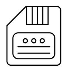 Save thin line icon diskette vector