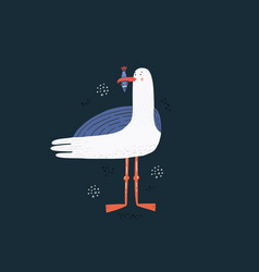 seagull hand drawn vector image