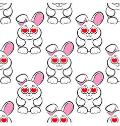 seamless little bunny vector image