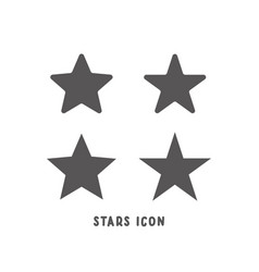 set star icon simple flat style vector image