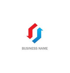 shape circle arrow business logo vector image