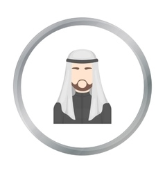 Sheikh icon in cartoon style isolated on white vector image vector image