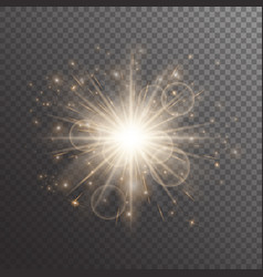 Shimmering golden background vector