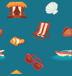 summer endless texture with attributes vector image
