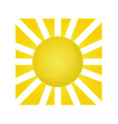 sun isolated summer icon design image vector image