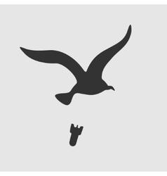 Symbol Bird Bombs vector image