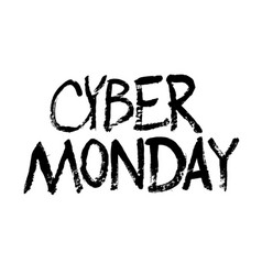 template design graphic for cyber monday offer vector image