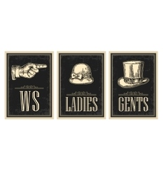 Toilet retro vintage grunge poster Ladies Cents vector image