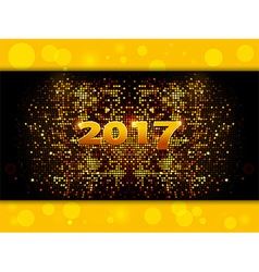 Twenty Seventeen sparkling gold mosaic vector