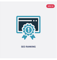 two color seo ranking icon from programming vector image