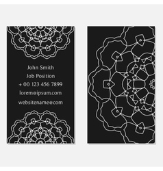 Two sided design template in grey colors Front vector image