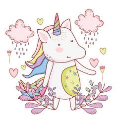 unicorn cute cartoon vector image