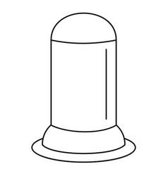 Uterus condom icon outline style vector