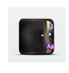 Wallet organizer mobile app icon vector
