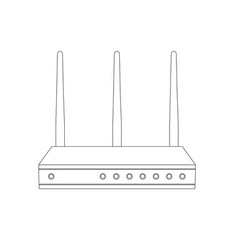 wifi router outline icon vector image