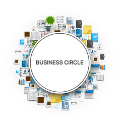 a set of colourful icons set shaped as a circle vector image vector image