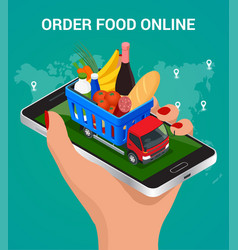 Banners for web site online food order food vector