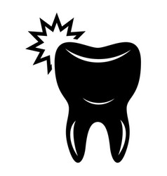dentistry icon simple style vector image vector image