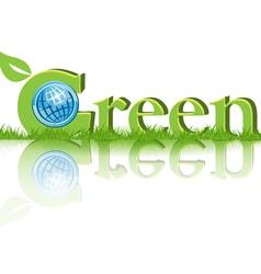 eco green concept vector image