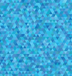 blue triangles pattern vector image vector image