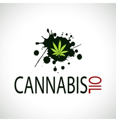 Cannabis Oil-Marijuana vector image vector image