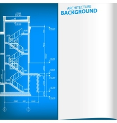 Detailed architectural project vector image vector image