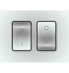 icon on off switch vector image vector image