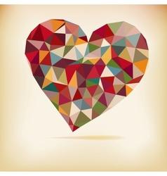 Retro Color Heart vector image