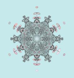 winter doodles hand drawn snowflake cute simple vector image
