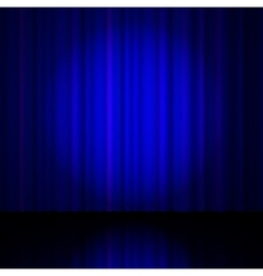 Blue curtain from the theatre vector image vector image