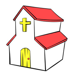 church icon in icon cartoon vector image