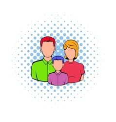 Family icon in comics style vector image vector image