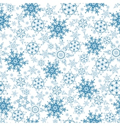 Festive seamless pattern with blue snowflakes vector image