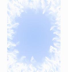 frozen window vector image