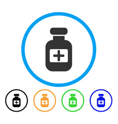 medication phial rounded icon vector image vector image