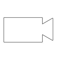 video camera the black color icon vector image