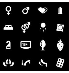 white sex icon set vector image vector image