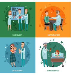 doctors and patients design concept vector image vector image