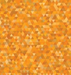 orange triangles pattern vector image