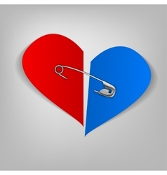 21 pinned heart vector