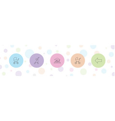 5 go icons vector