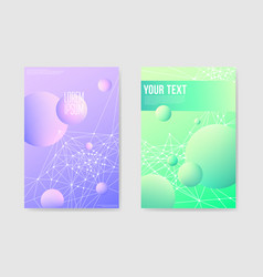 abstract futuristic poster with shapes background vector image