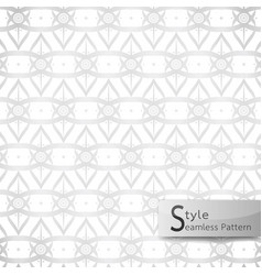 Abstract seamless pattern lotus floral lattice vector